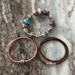 PANDORA Charm Bracelet Lot